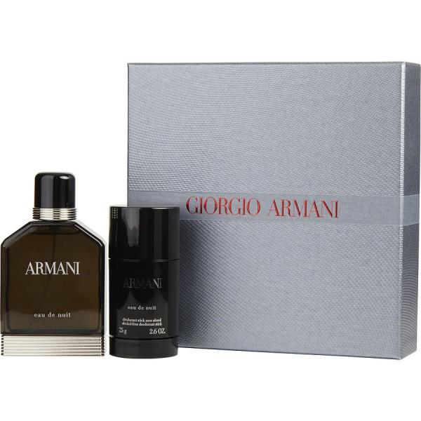Eau De Nuit Giorgio Armani Gift Box Set 100ml Sobelia